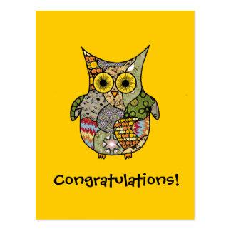 Owl Collage Postcard