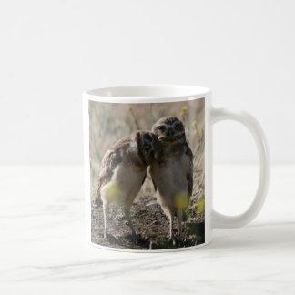 owl couple basic white mug