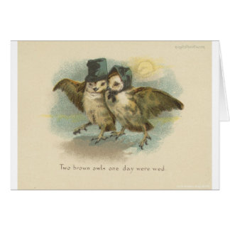 owl couple card