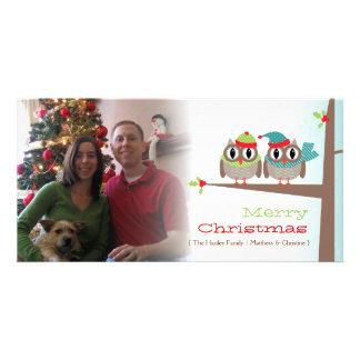 Owl Couple Christmas Photo Card