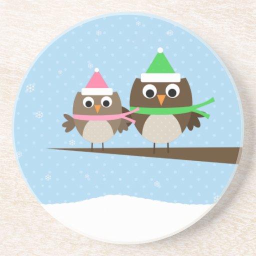 Owl Couple Coasters