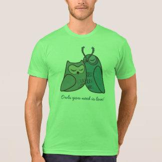 Owl Couple Cuddling T-Shirt