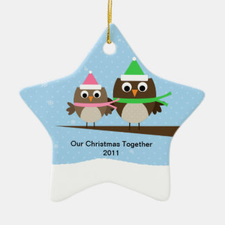 Owl Couple Double Sided Ornament