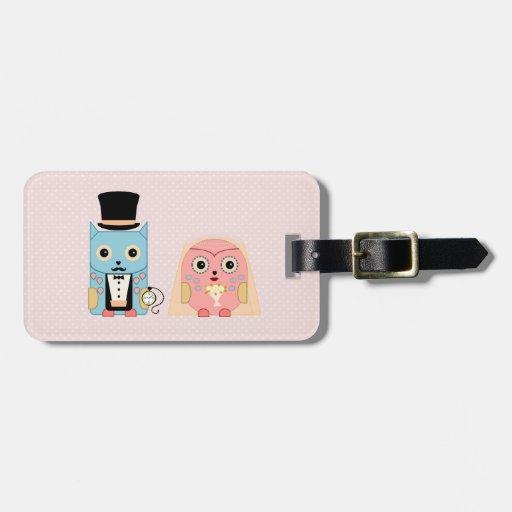 Owl Couple Travel Bag Tags
