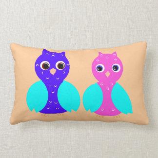 Owl Couple on throw pillows, or cushions. Throw Cushion