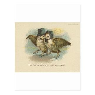 owl couple postcard