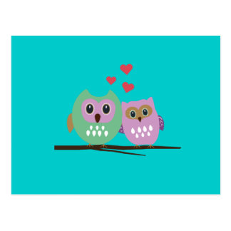 Owl couple post cards