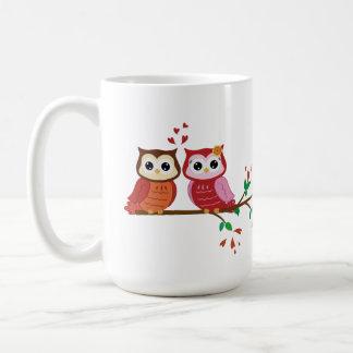 Owl Couple Valentine's Day mug