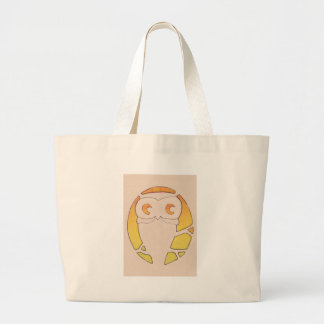 Owl Crescent Moon Tree Large Tote Bag