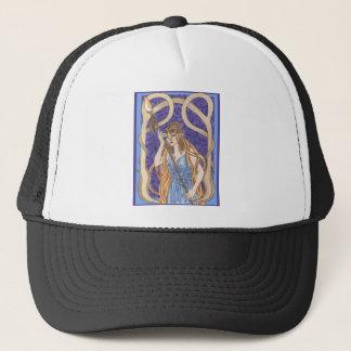 Owl Eyed Athena Messenger Trucker Hat