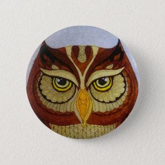 Owl Eyes 6 Cm Round Badge