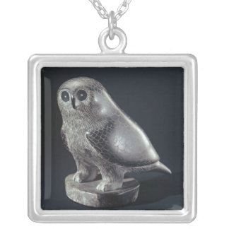 Owl, from Cape Dorset Silver Plated Necklace