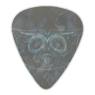 Owl Guitar Pick Pearl Celluloid Guitar Pick