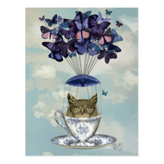 Owl In Teacup 2 Postcard