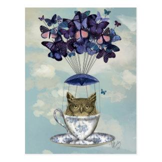 Owl In Teacup 2 Postcard