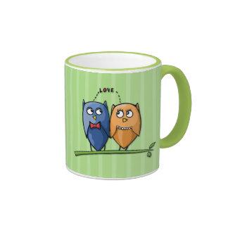 Owl Love green Mug