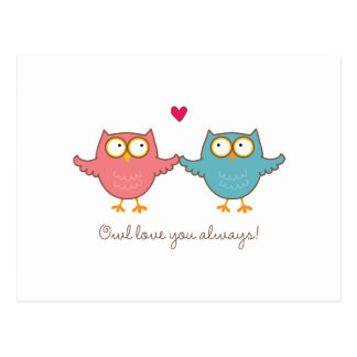 owl love you postcard
