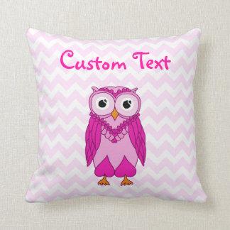 Owl Pillow: Pink Custom Throw Pillow