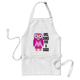 Owl Pink Standard Apron