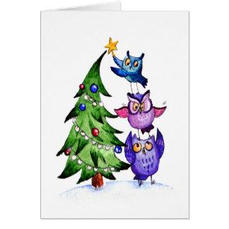 Owl`s Christmas Card