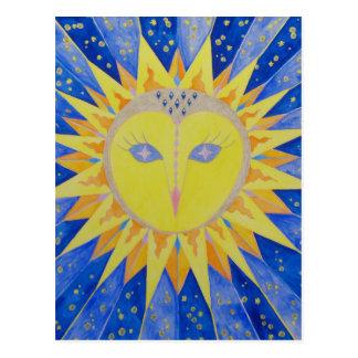 Owl Sun Owl Postcard