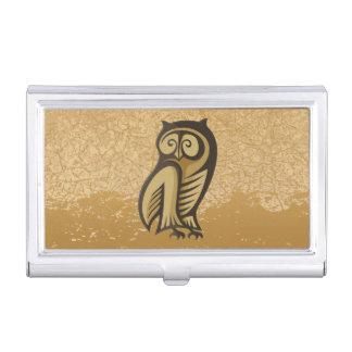 Owl Symbol Color Business Card Holder