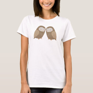 Owl T-shirt Woodland Owl Couple Graphic T-shirt