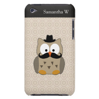 Owl with Mustache and Hat Barely There iPod Covers