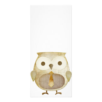 Owl With Tie Rack Card