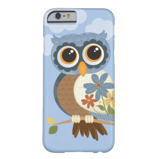 Owl with Vintage Flowers Barely There iPhone 6 Case