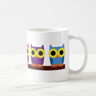 OWLIE BOO - Colorful owls Basic White Mug