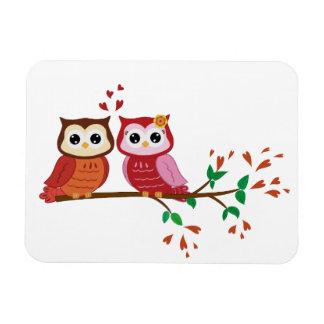 Owls couple fridge magnet