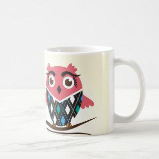 Owls couple in love basic white mug