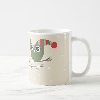Owls couple in love coffee mug