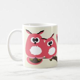 Owls couple in love coffee mugs