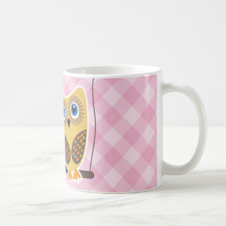 Owls couple in love mugs