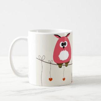 Owls couple in love mug