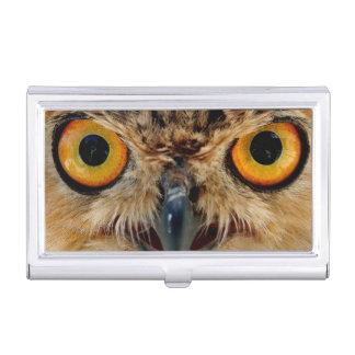 Owls Eyes Business Card Holder