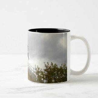 Owl's Head Lighthouse on a Cloudy Day Two-Tone Coffee Mug