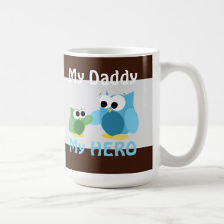 Owls - My Daddy, My HERO - Father's Day Mug