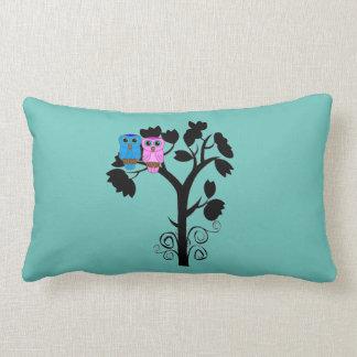 Owls Throw Pillow - Love Birds - Gift for Couple Throw Cushions