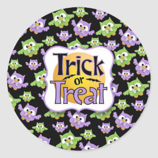 Owly Halloween Trick or Treat Stickers