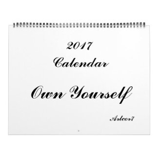 Own Yourself 2017 Calendar Huge Two Page