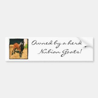 Owned by Goats Bumper Sticker Car Bumper Sticker