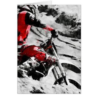 Owning The Mountain  -  Motocross Dirt-Bike Racer Card