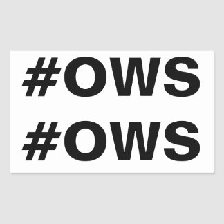 #OWS Occupy Wall Street Hashtag Rectangle Sticker