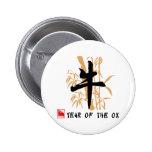 Ox Symbol Gifts 6 Cm Round Badge
