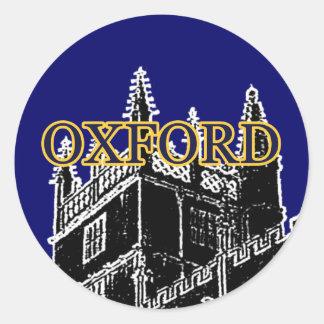 Oxford England 1986 Building Spirals Black jGibney Round Sticker