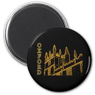 Oxford England 1986 Building Spirals Brown 6 Cm Round Magnet