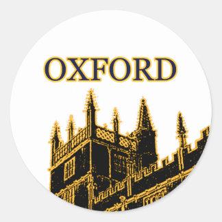 Oxford England 1986 Building Spirals Brown Sticker